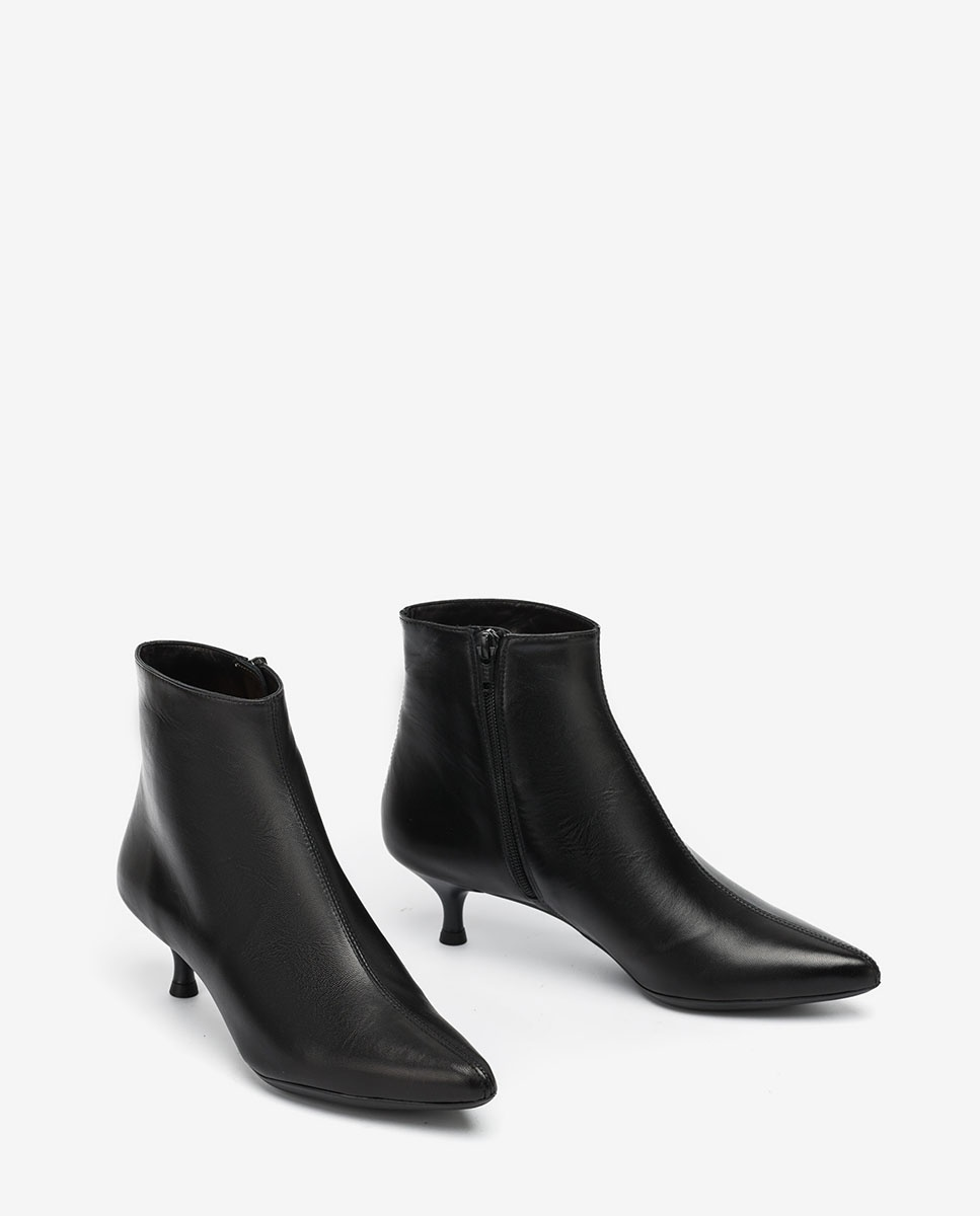 UNISA Pointy toe black ankle boots JEISI_NA black 2