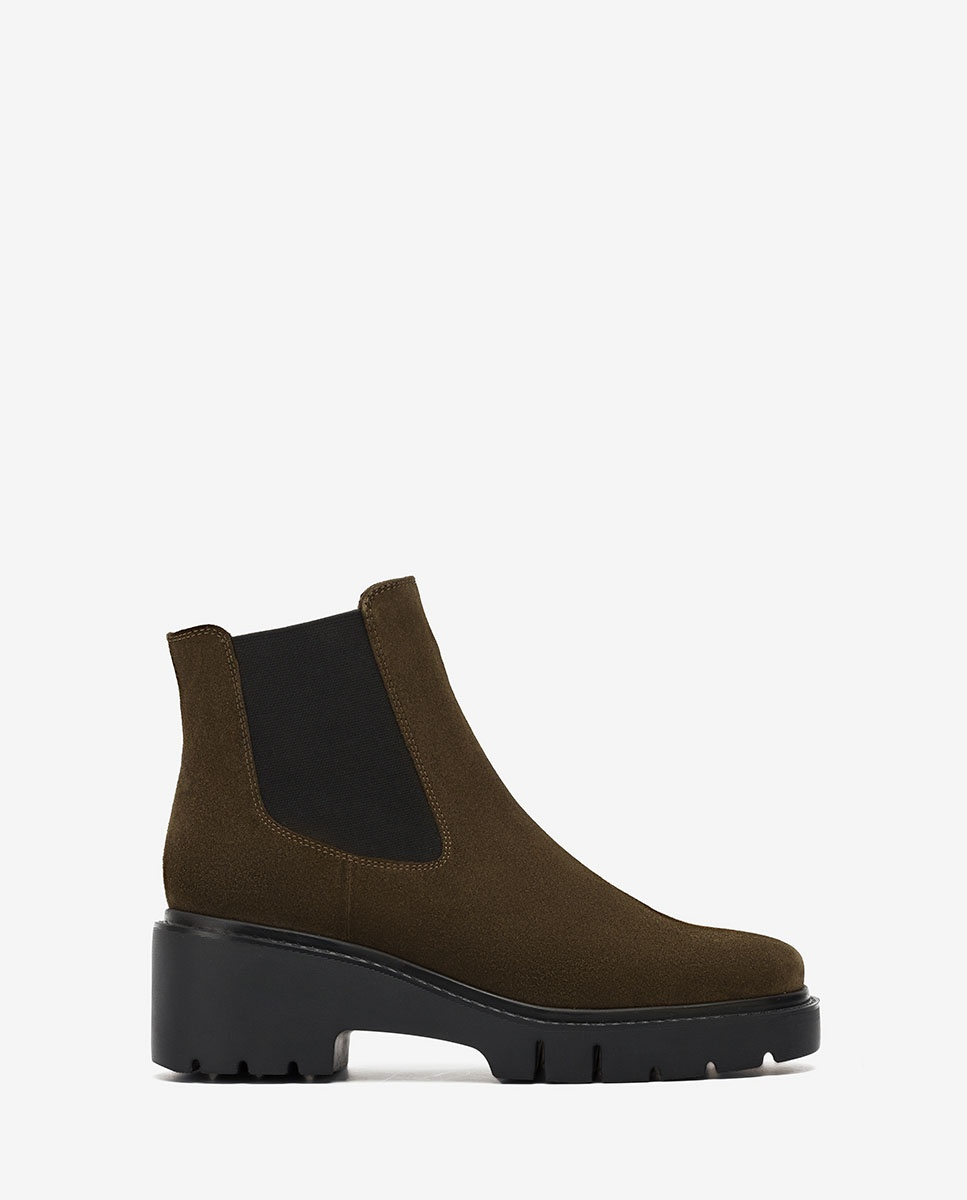 UNISA Green Chelsea ankle boots track sole JEROME_BS hunter 2