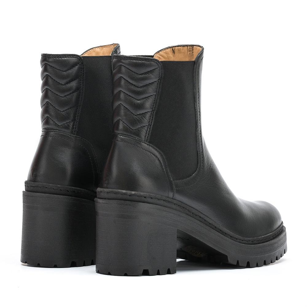 UNISA Women's biker booties in black leather JOSITO_NT black 2