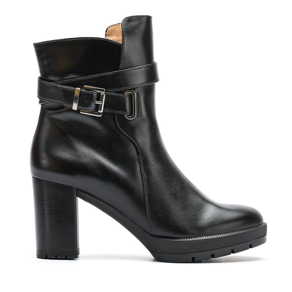 UNISA Black strap booties with buckle KACI_NE black 2
