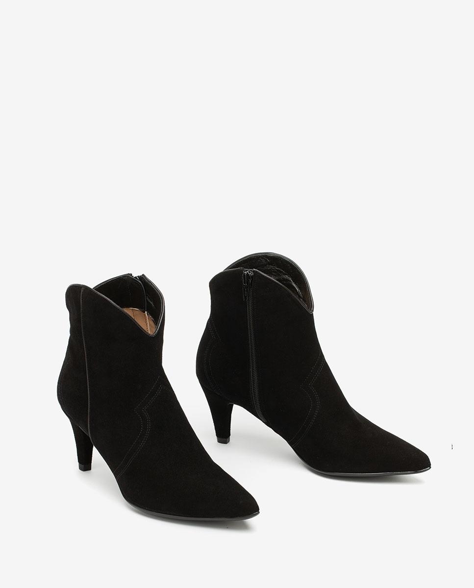 UNISA Sophisticated cowboy ankle boots KAITLYN_KS black 2