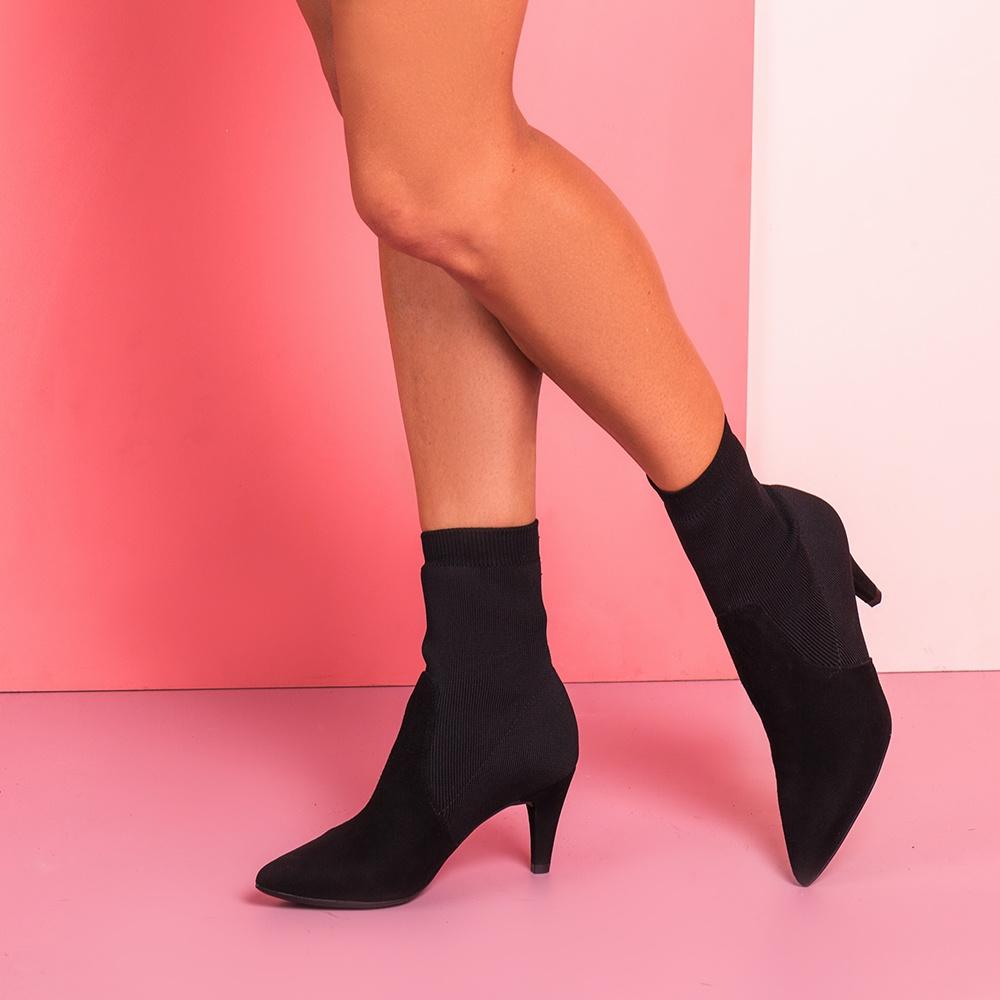 UNISA Sock black booties KAMBRIN_KS black 2
