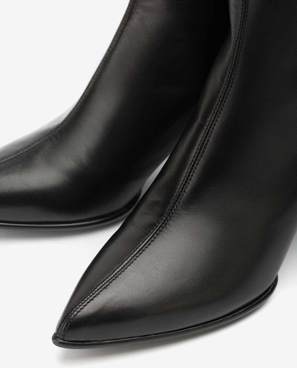 UNISA Pointy toe leather ankle boots KRUZ_NA black 2