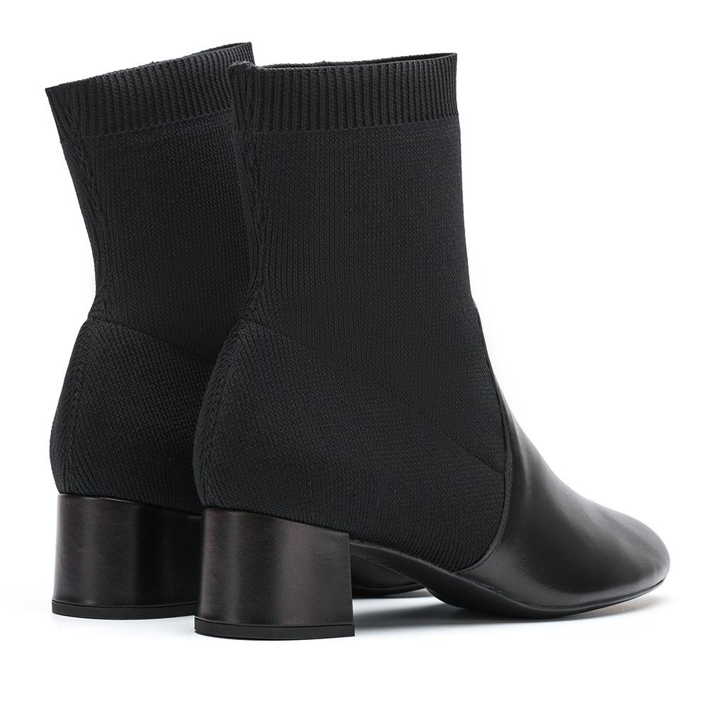 UNISA Sock contrast booties LACHI_NA black 2