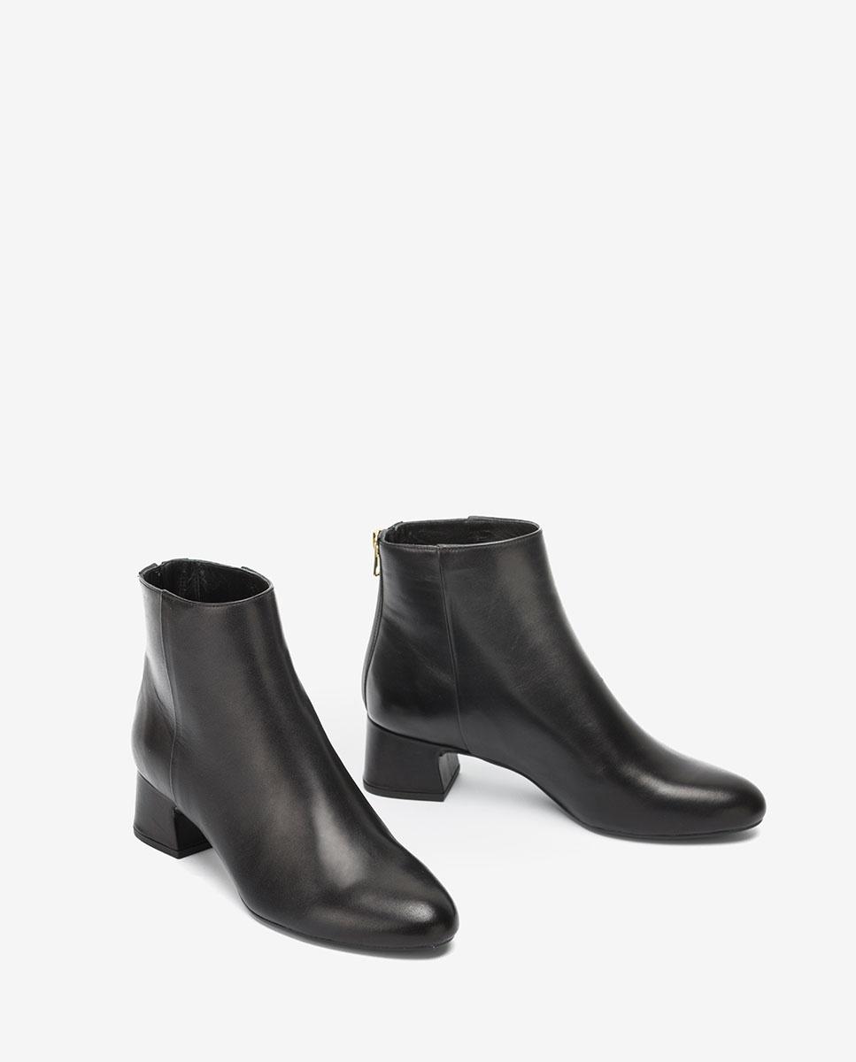 UNISA Black leather ankle boots LOLITA_VU black 2