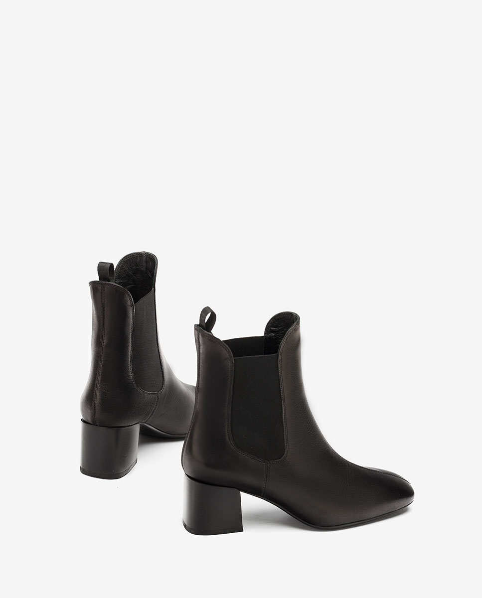 UNISA Black leather Chelsea ankle boots MANTE_VU black 2