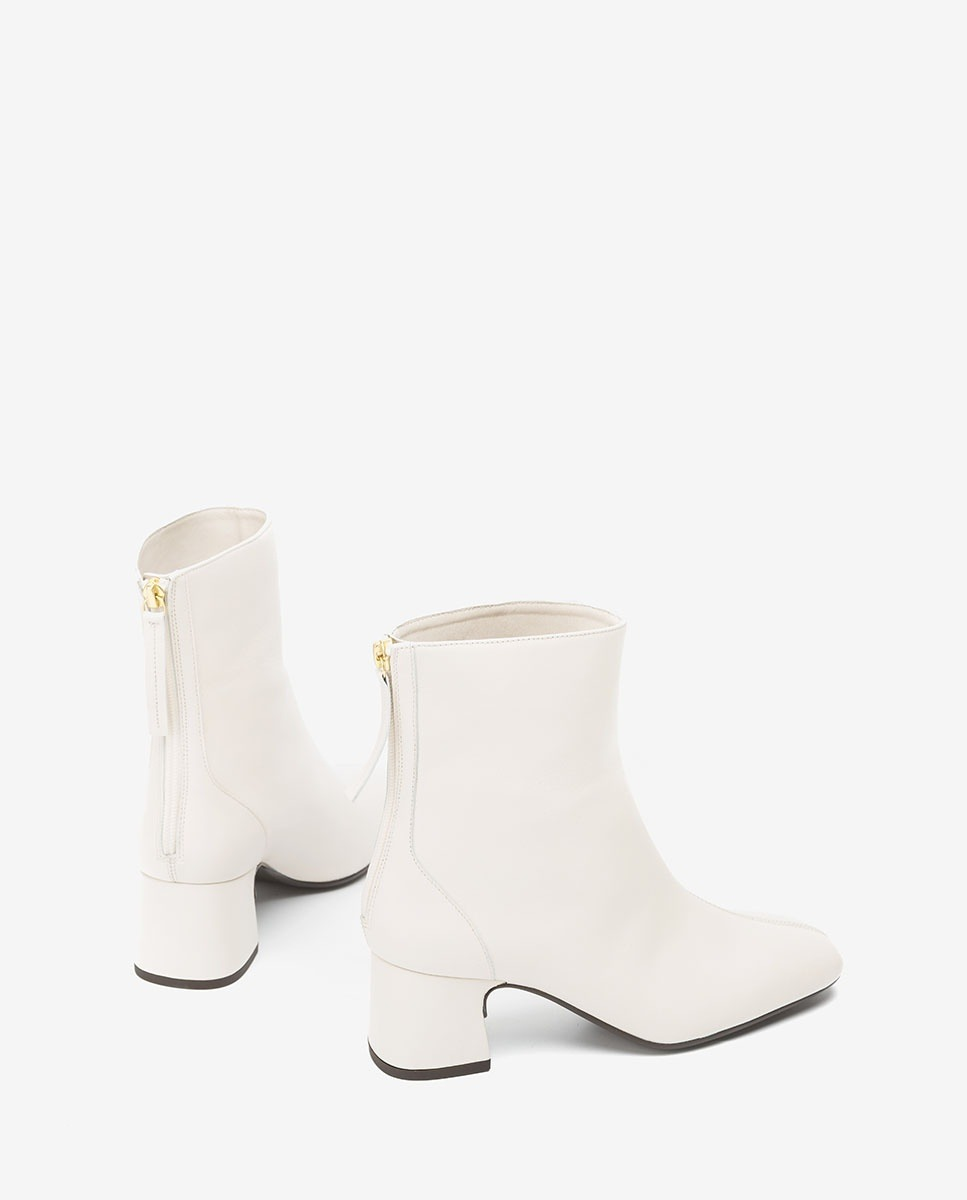 UNISA White leather ankle boots MONCADA_VU ivory 2