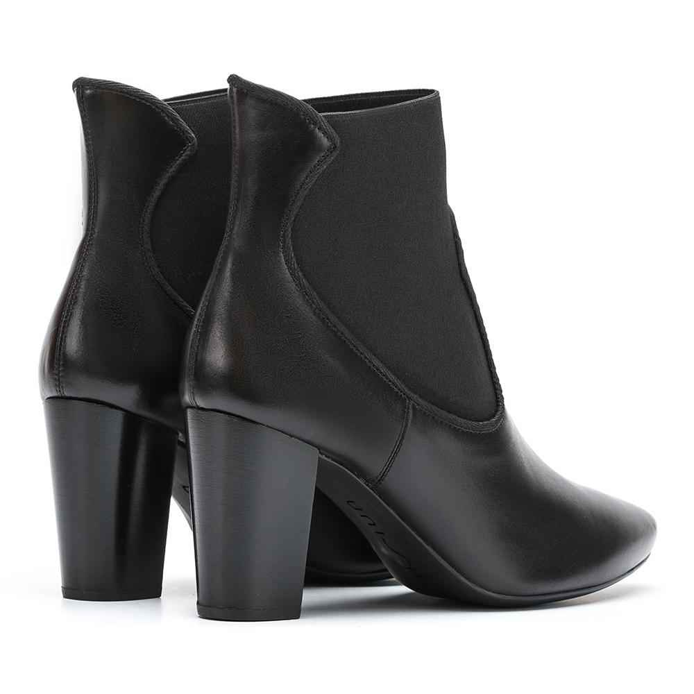 UNISA Black booties elastic detail NALIA_NE black 2
