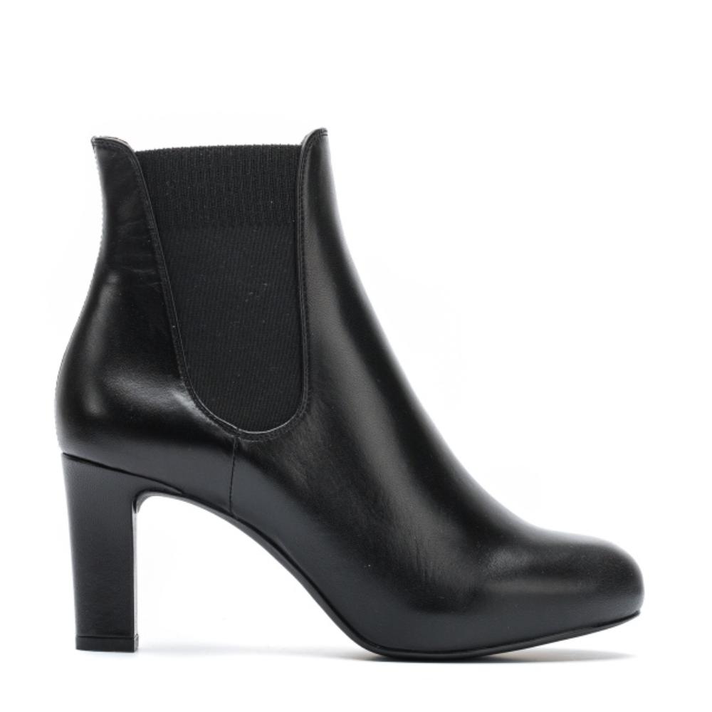 UNISA Leather shoes with heel NIRMA_F19_NA black 2