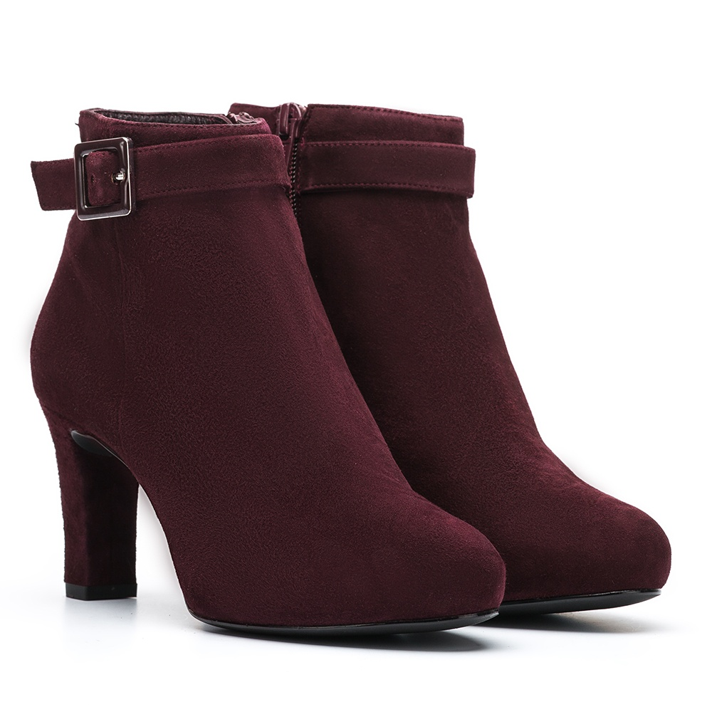 UNISA Strap detail with buckle booties  NITRA_KS grape 2