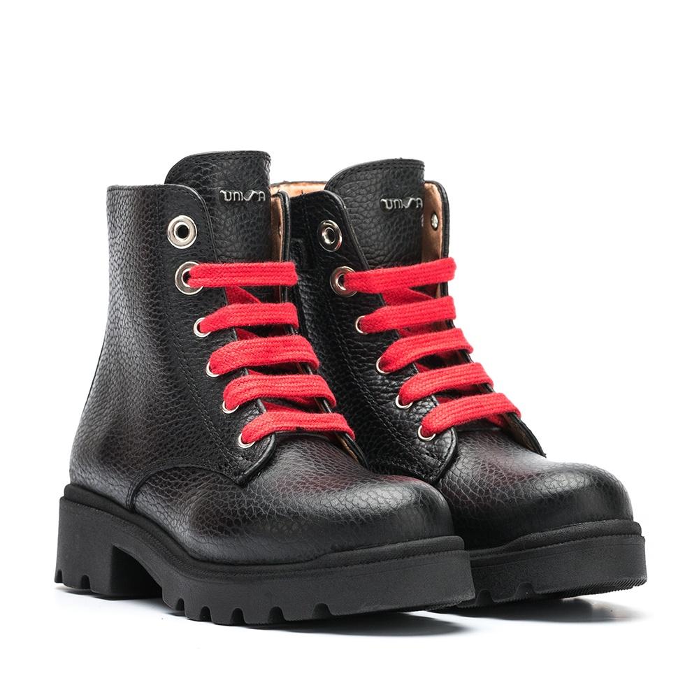 UNISA Little girl´s military style black booties PIERINA_MM black 2