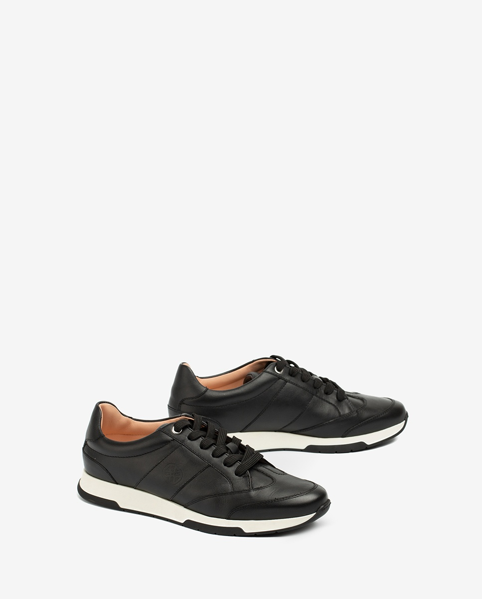 UNISA Leather monogram sneakers FALCONI_NF black 2