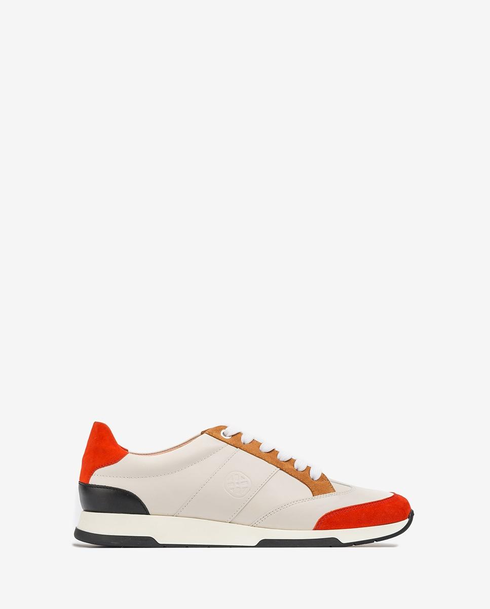 UNISA Monogram contrast sneakers FALCONI_NF_KS ivo/cor/ci 2