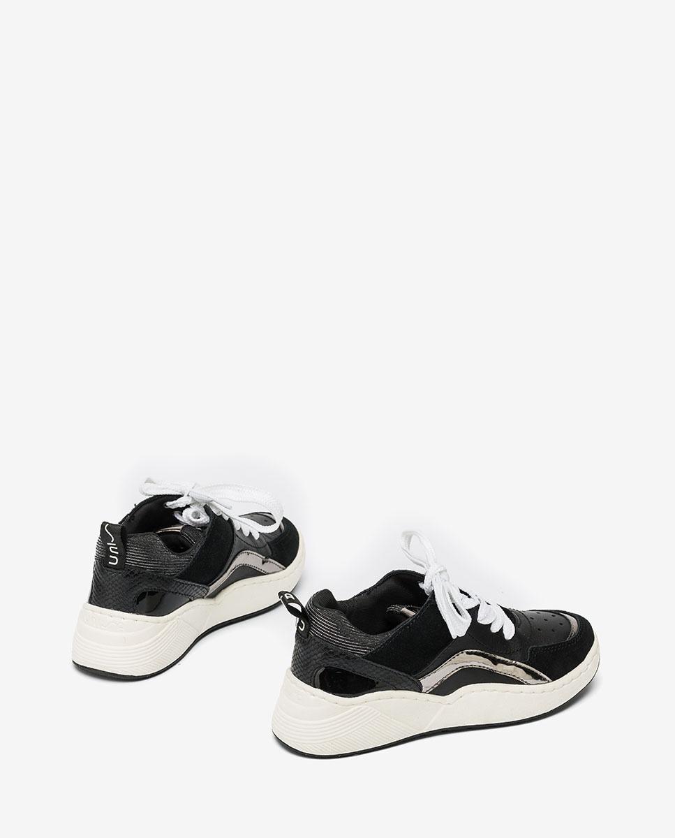 UNISA Contrast little girl sneakers HIKO_F20_ESS black 2