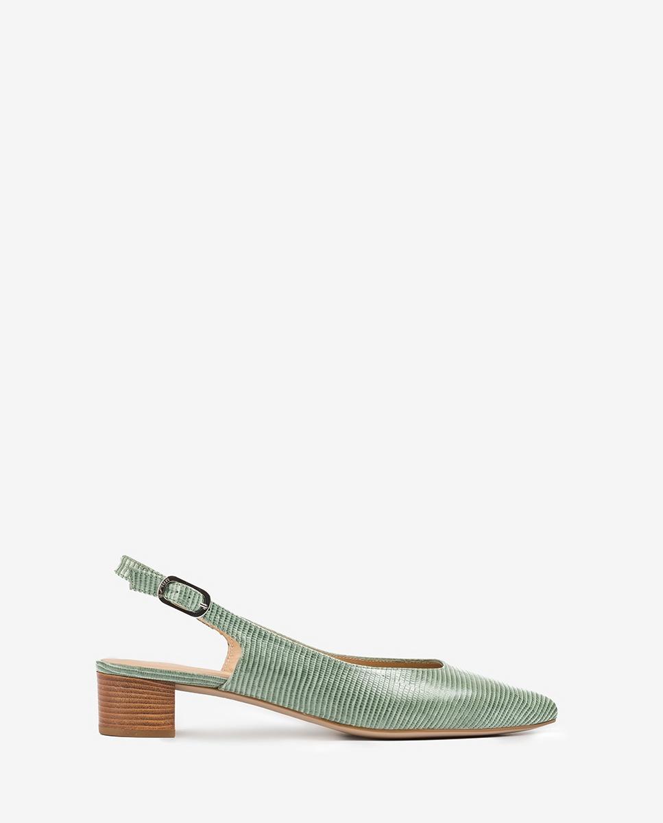UNISA Engraved leather slingbacks low heel GIJON_LI mint 2