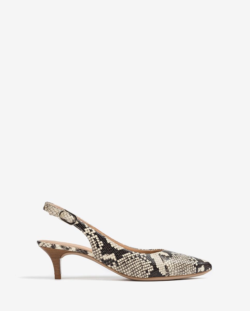 UNISA Pointy toe slingbacks snake JAMAL_VIP nacar 2