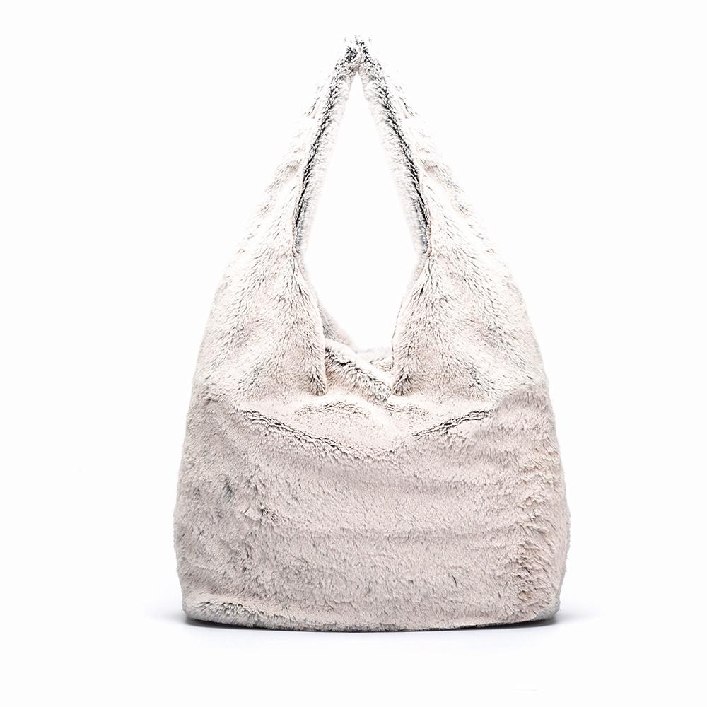 UNISA Soft fur tote bag ZISNOW_F19_RR tempest 2