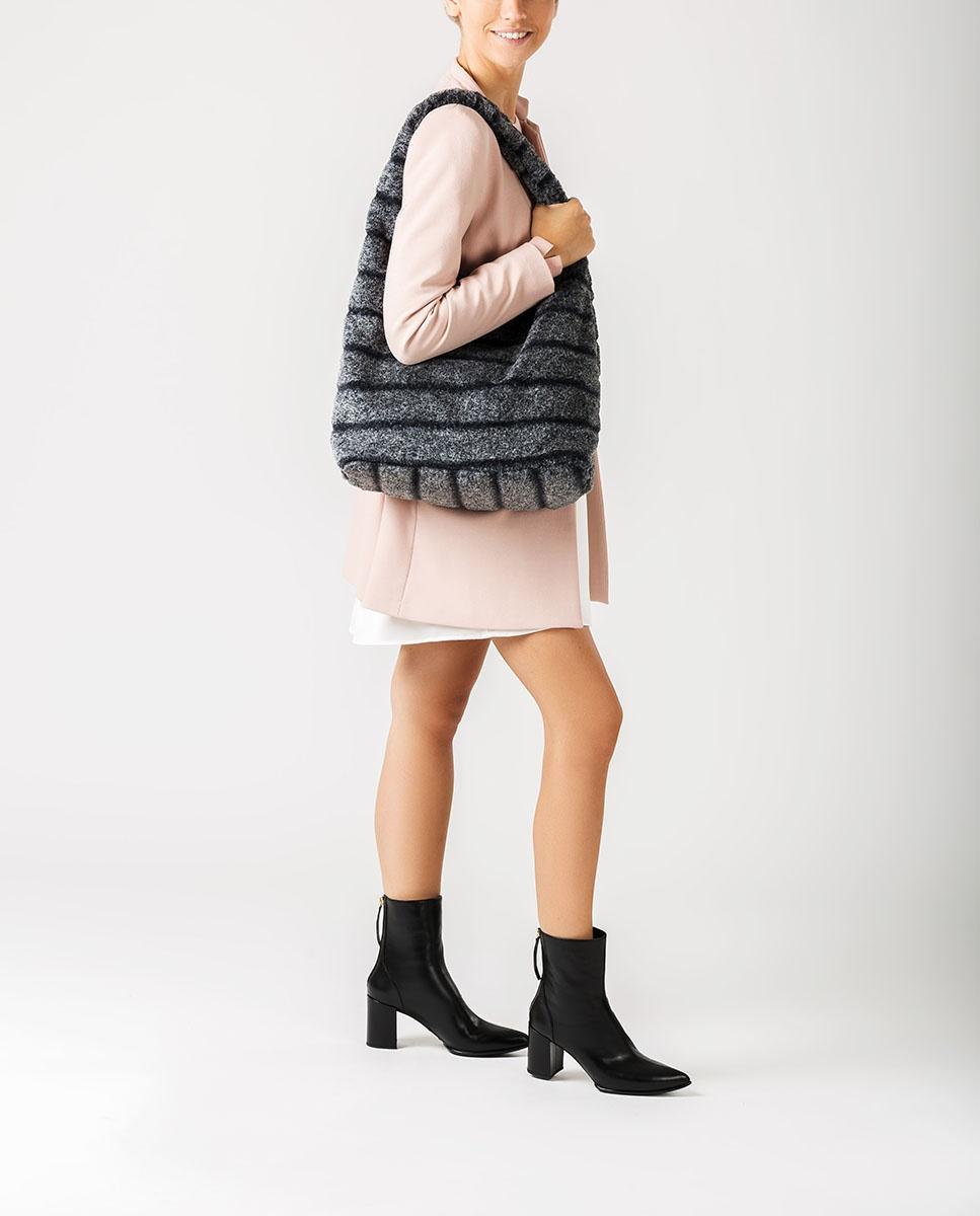 UNISA Fur Tote bag ZISNOW_F20_BAI grigio 2