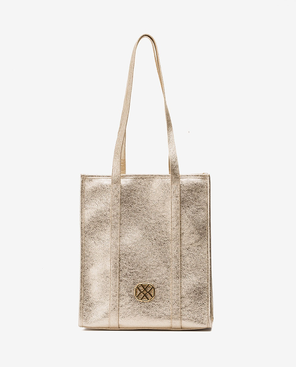 UNISA Metal effect shopper bag ZTRUITA_LRE platino 2