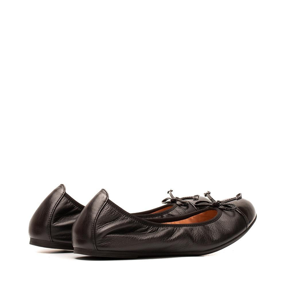 UNISA Patent leather contrast ballerina AUTO_F19_NA_PA black 2