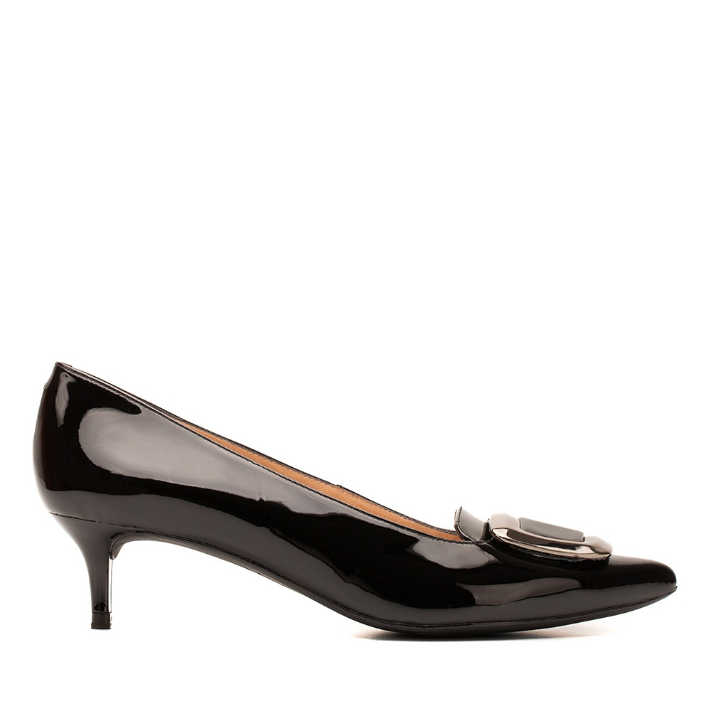 UNISA Patent leather pump with buckle JAIDEN_PA black 2