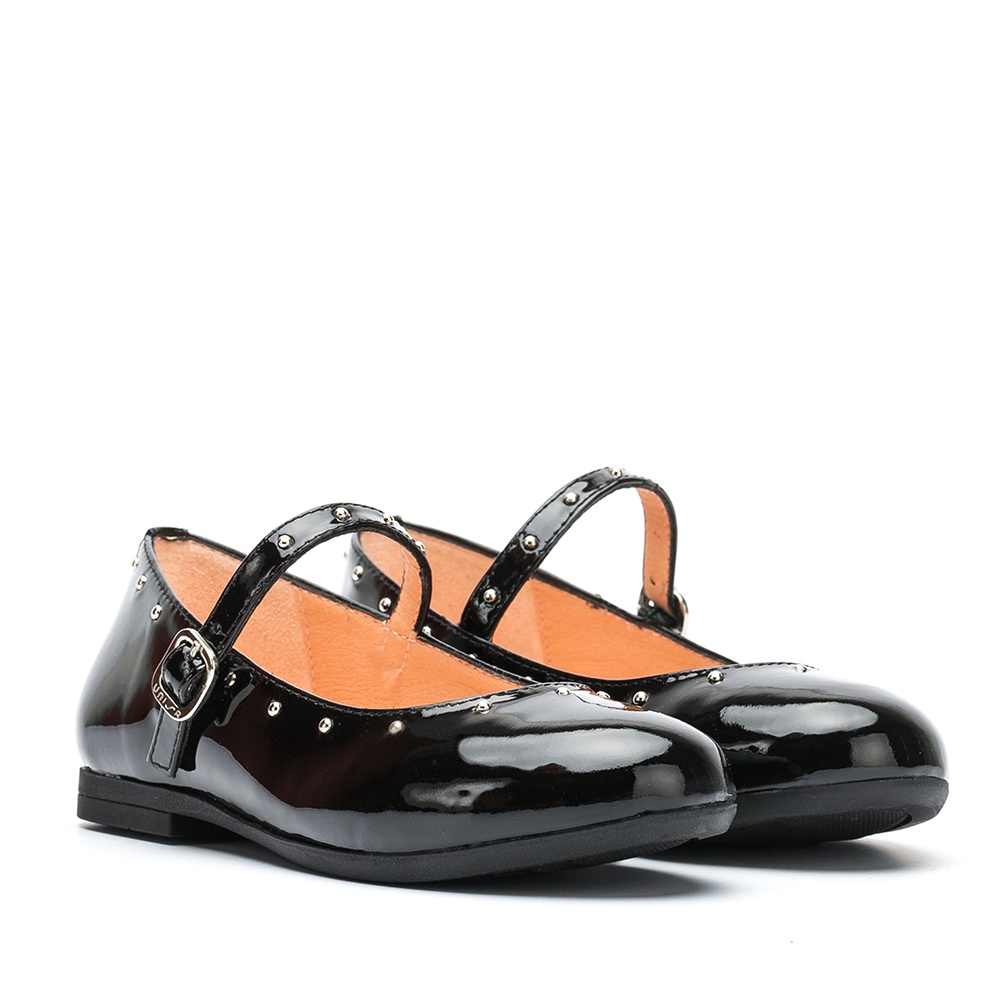 UNISA Patent leather Mary Janes with rivets CAMBA_PA black 2
