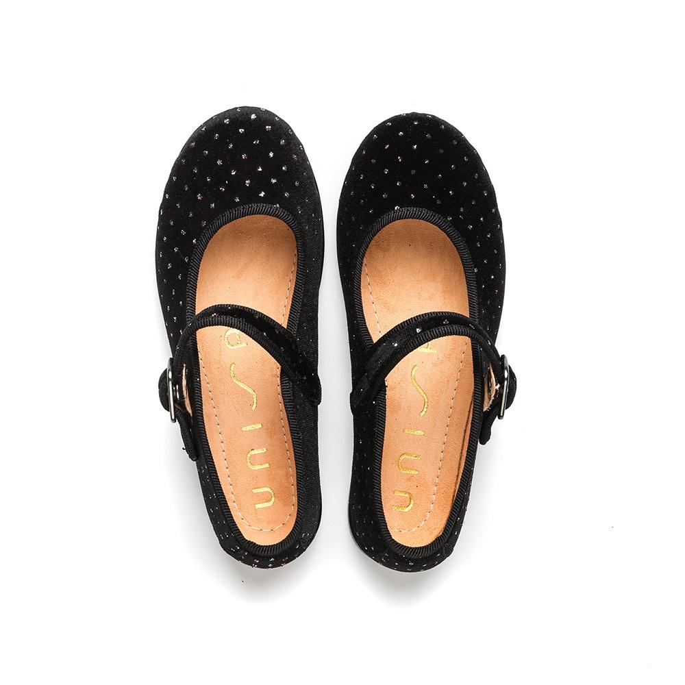 UNISA Little girl´s shiny velvet Mary Janes SEYLA_F19_VCO black 2