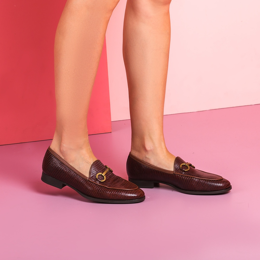 UNISA Women's engraved leather loafers DAIMIEL_BTJ toast 2