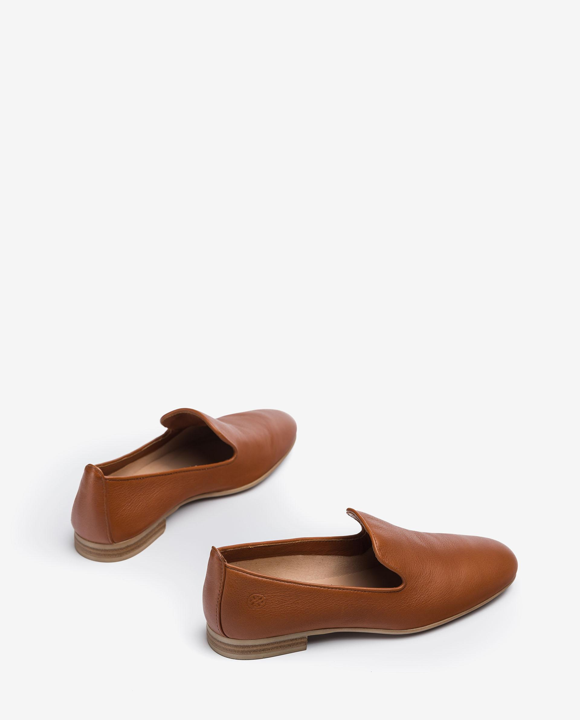 UNISA Leather slippers with monogram detail DAYA_CRE 2