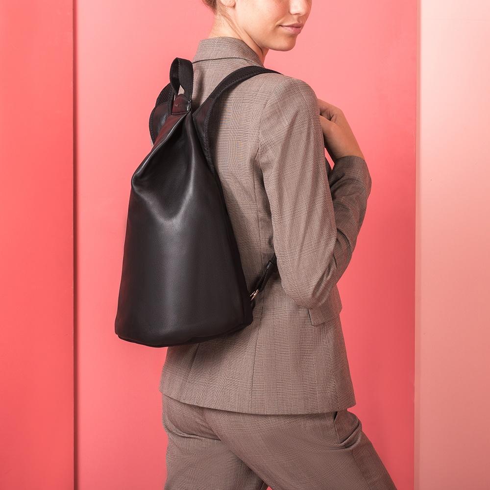 UNISA Black leather backpack ZMAISY_NT_NEO black 2