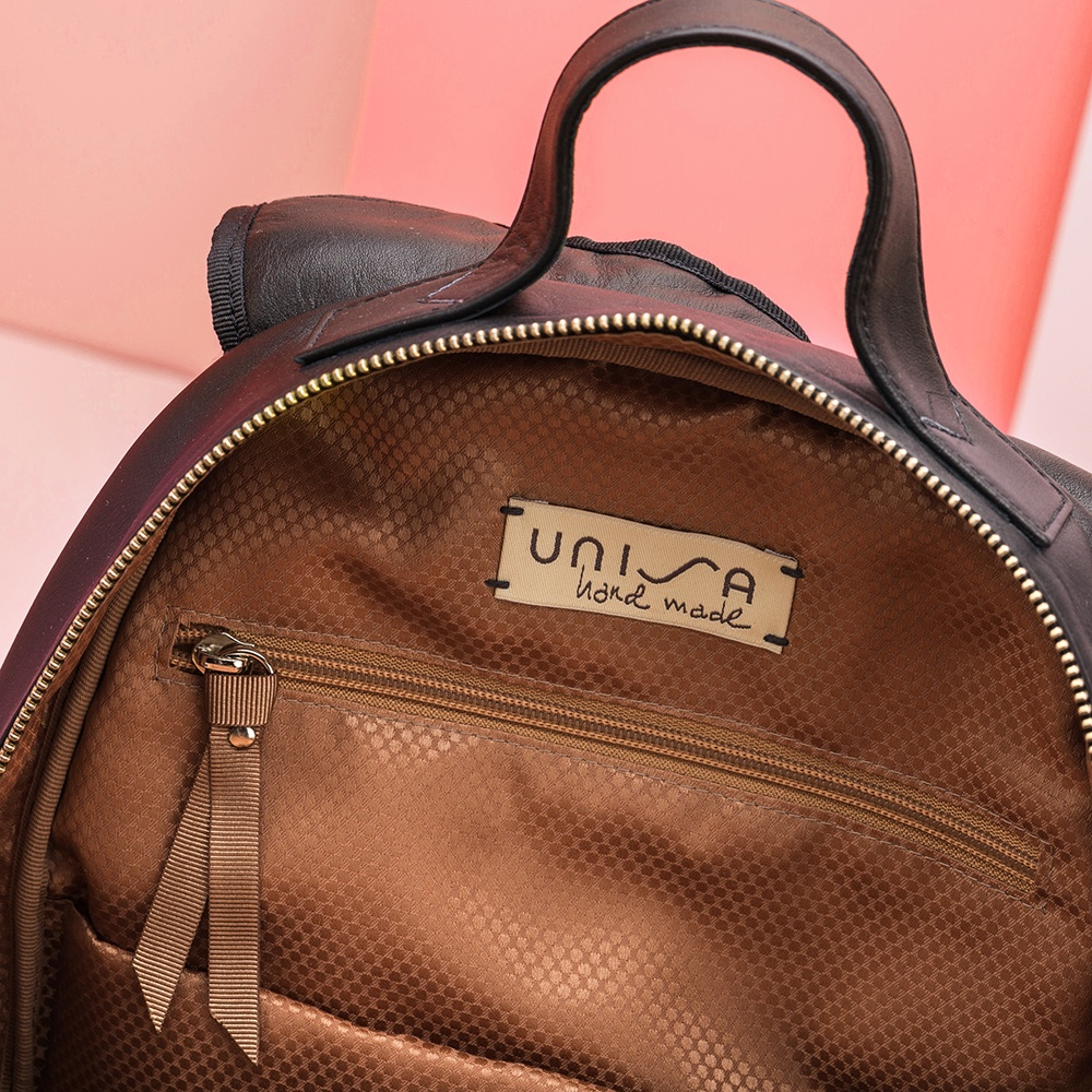 UNISA Black contrast backpack ZMOSA_NT_NEO black 2