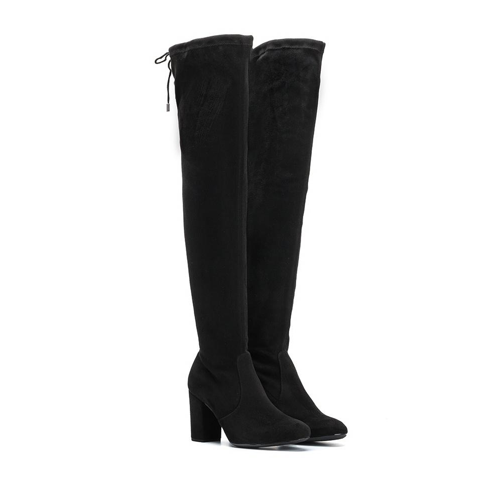 UNISA Black knee high boots with heel OSORNO_ST black 2