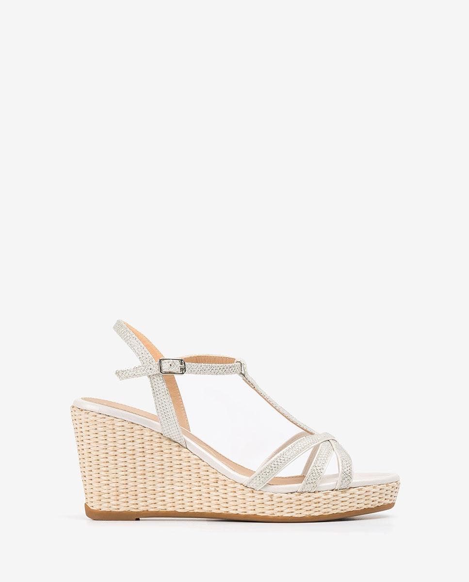 UNISA Bride T-strap sandals LLINAR_EV_NA_N white/bone 2