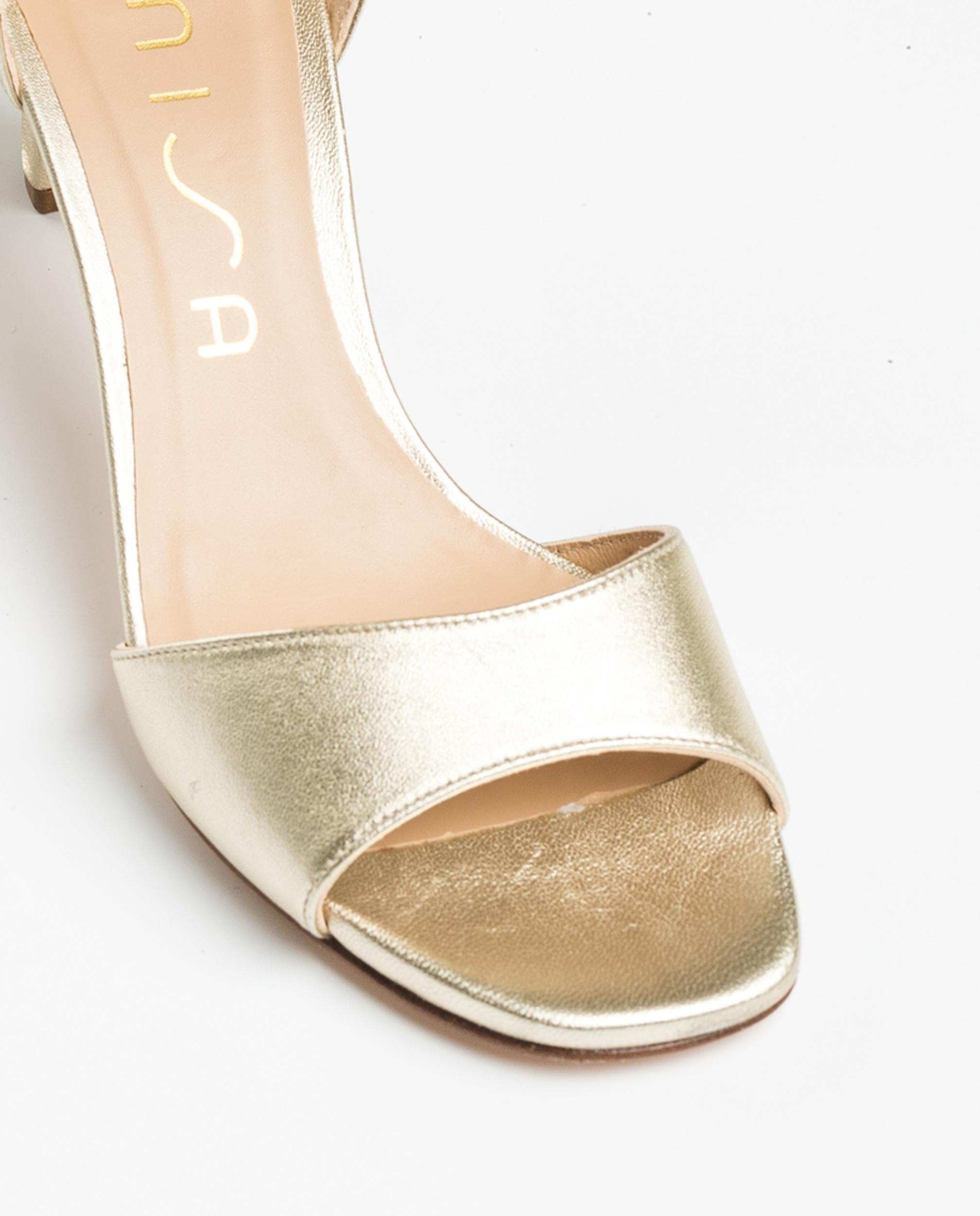 UNISA Light gold sandals medium heel MIDAS_20_LMT platino 2