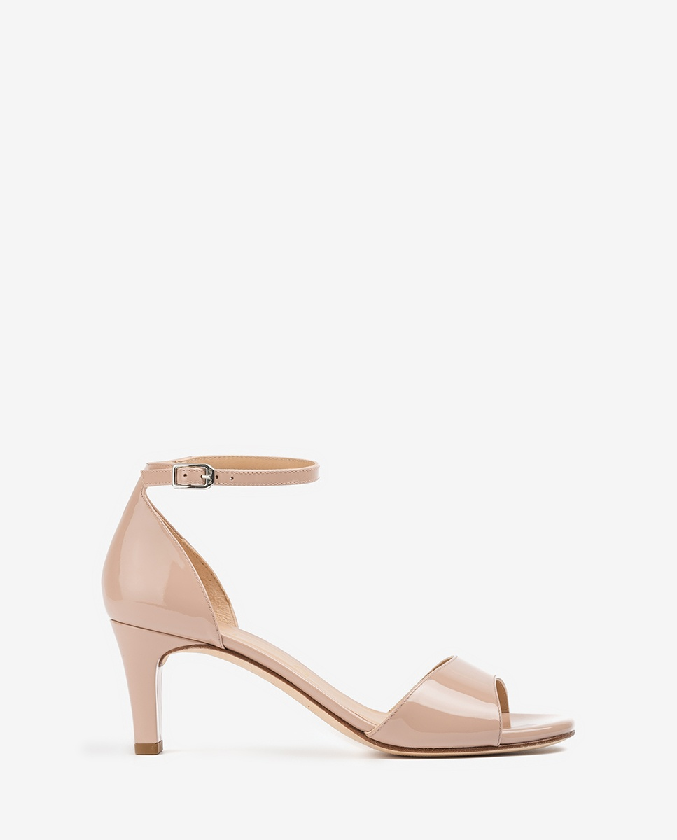 UNISA Nude patent leather sandals MIDAS_20_PA dusty 2