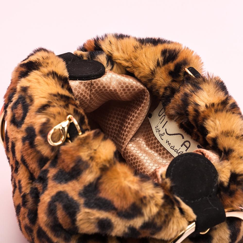 UNISA Leopard print bucket bag ZBIOS_TD leo ginger 2