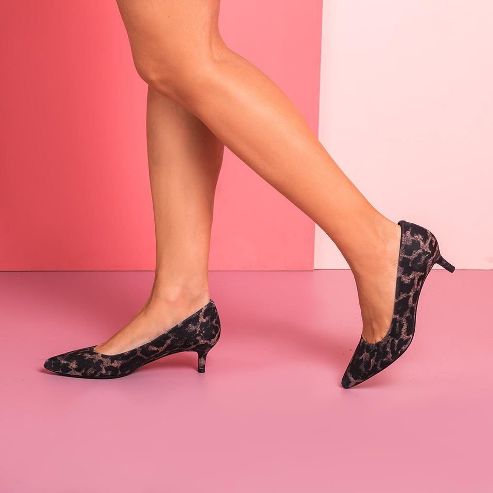 UNISA Low heel animal print pumps JIRON_F19_JA tan 2