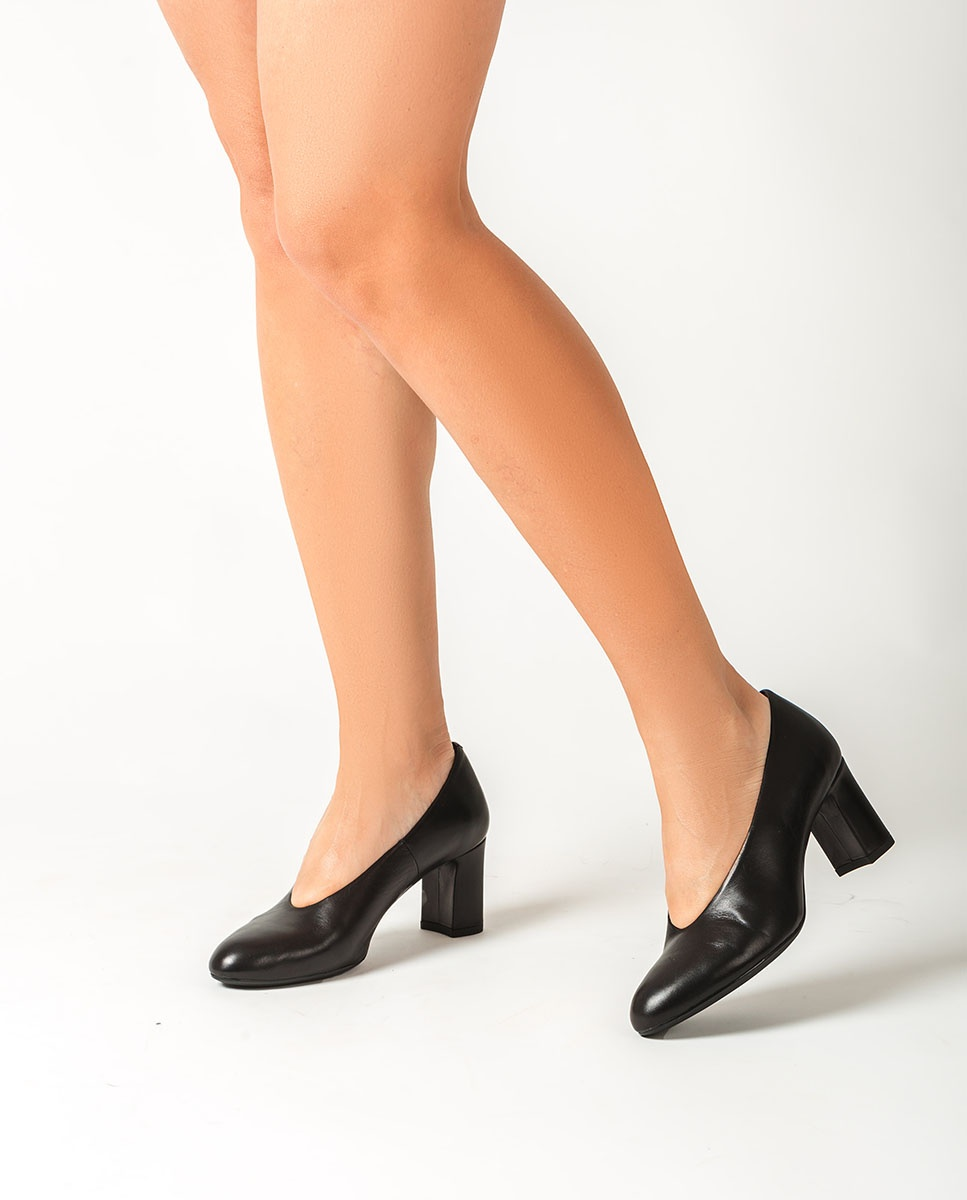 UNISA Women´s black leather pumps MARIOS_NA black 2