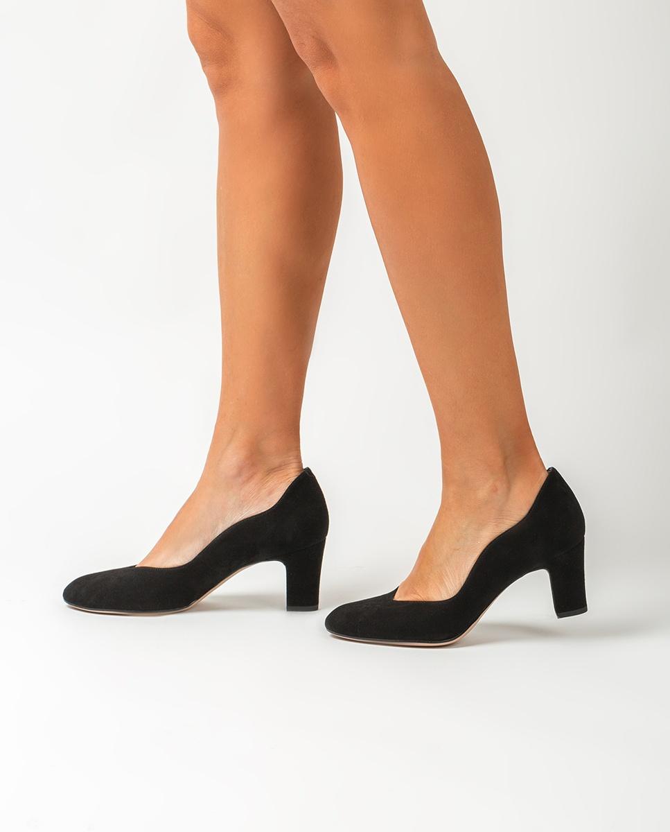 UNISA Kid suede medium heel pumps MORAN_KS black 2