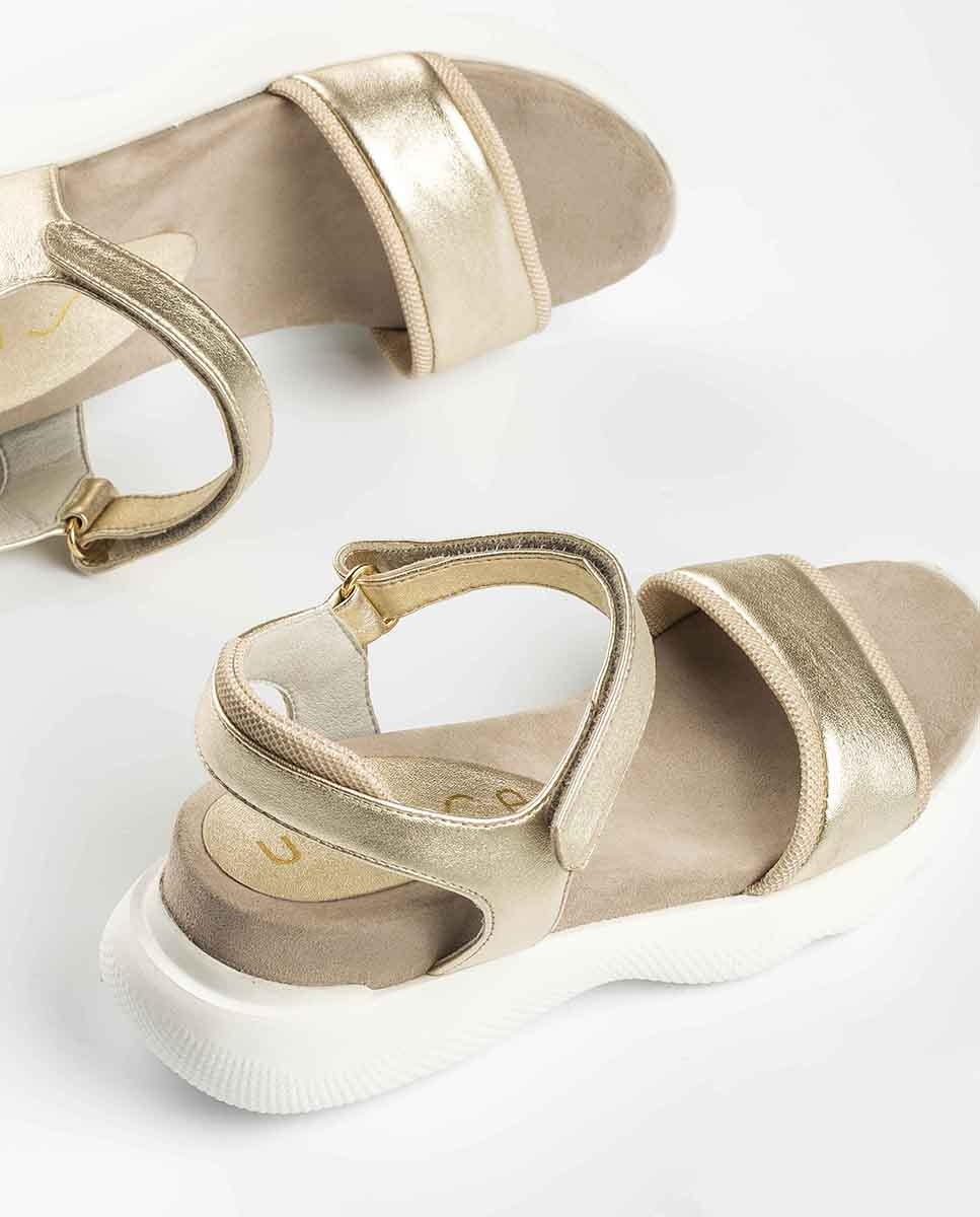 UNISA Metal effect sport sandals BOLO_LMT platino 2