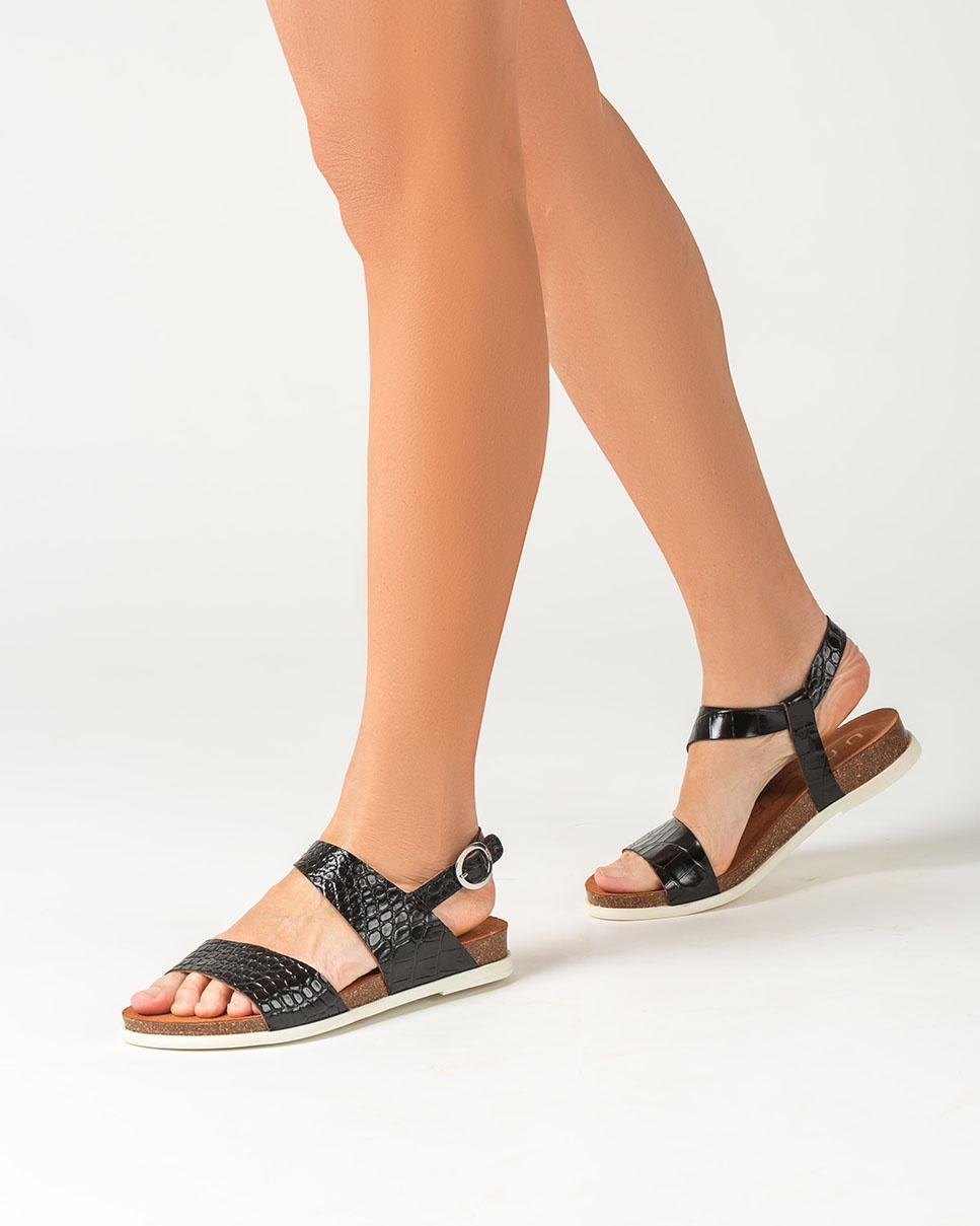 UNISA Flat croc sandals CANOVAS_CRW black 2