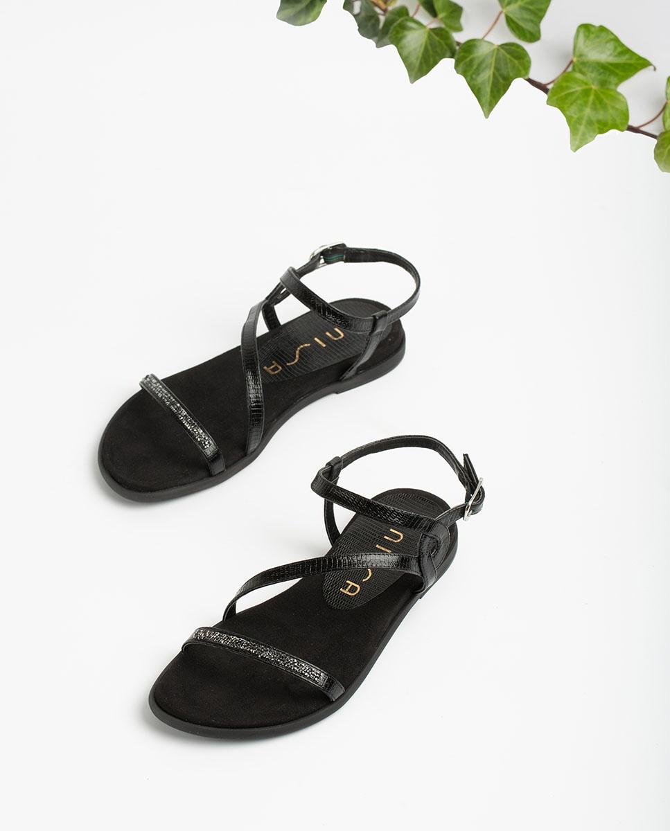 UNISA Flat Swarovski sandals CLARIS_LI  black 2