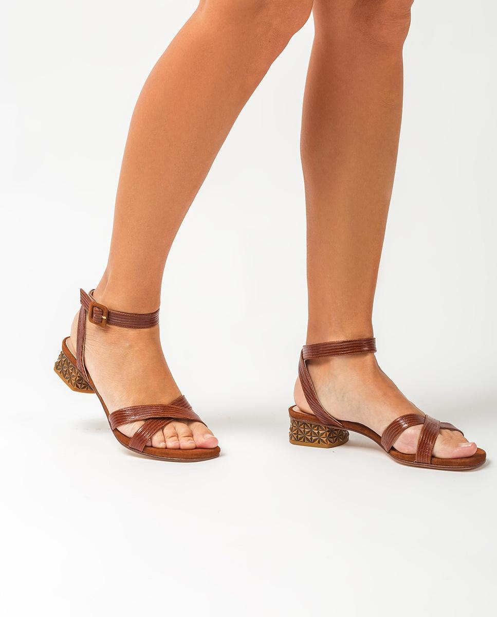 UNISA Carved heel leather sandals DIVIPA_LI_KS cuir 2