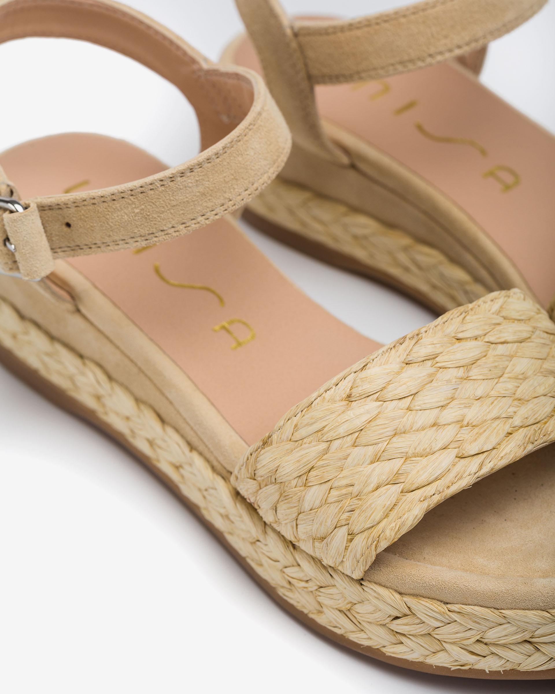UNISA Braided kid suede sandals GABIR_21_KS 2