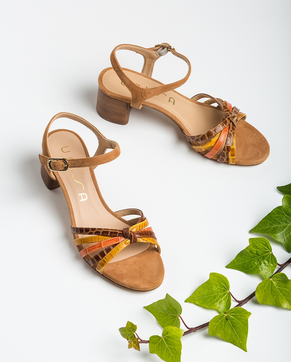 UNISA Croc contrast straps sandals GRATA_CRW_KS mus/sad/ma 2