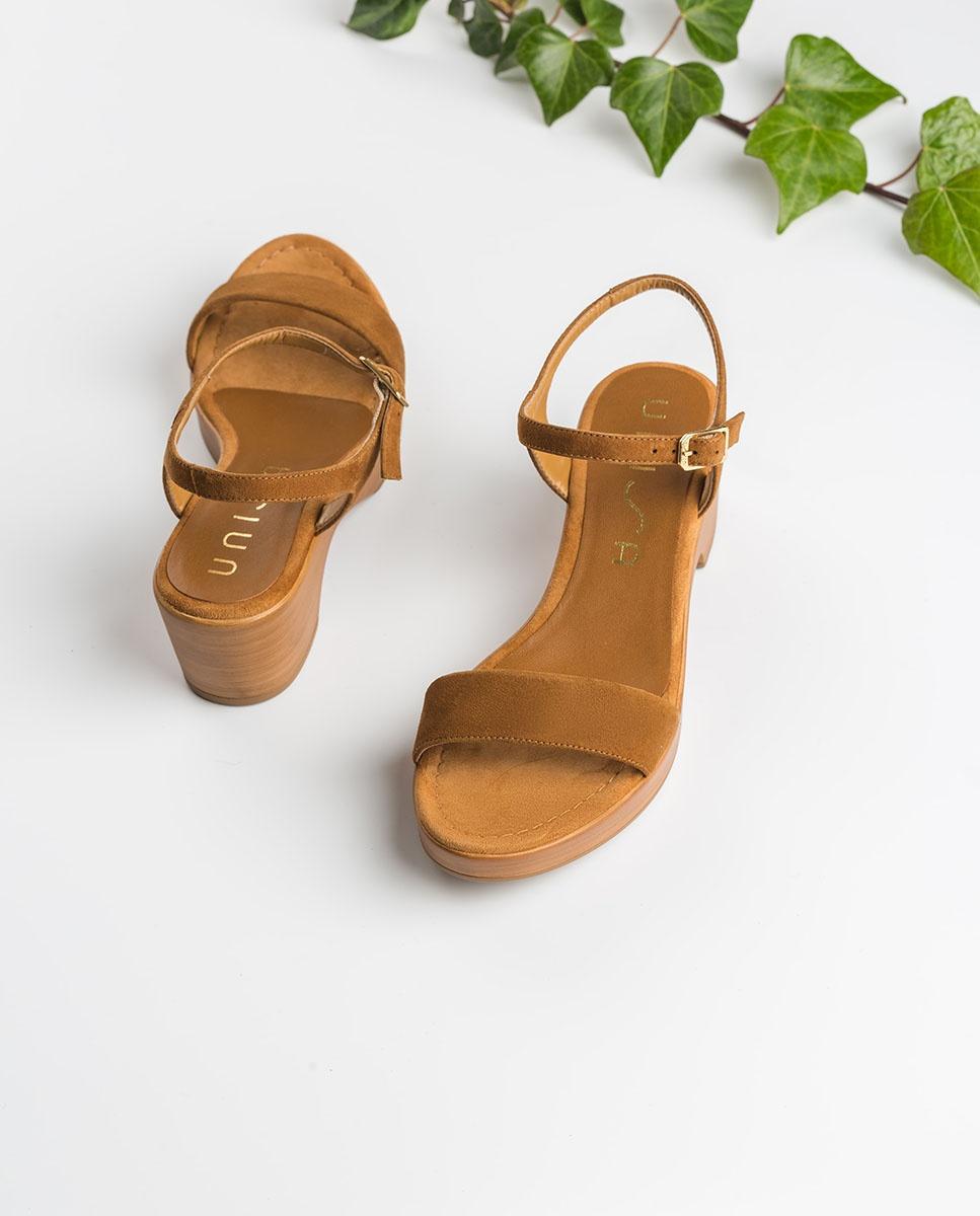 UNISA Kid suede block sandals IRITA_20_KS argan 2