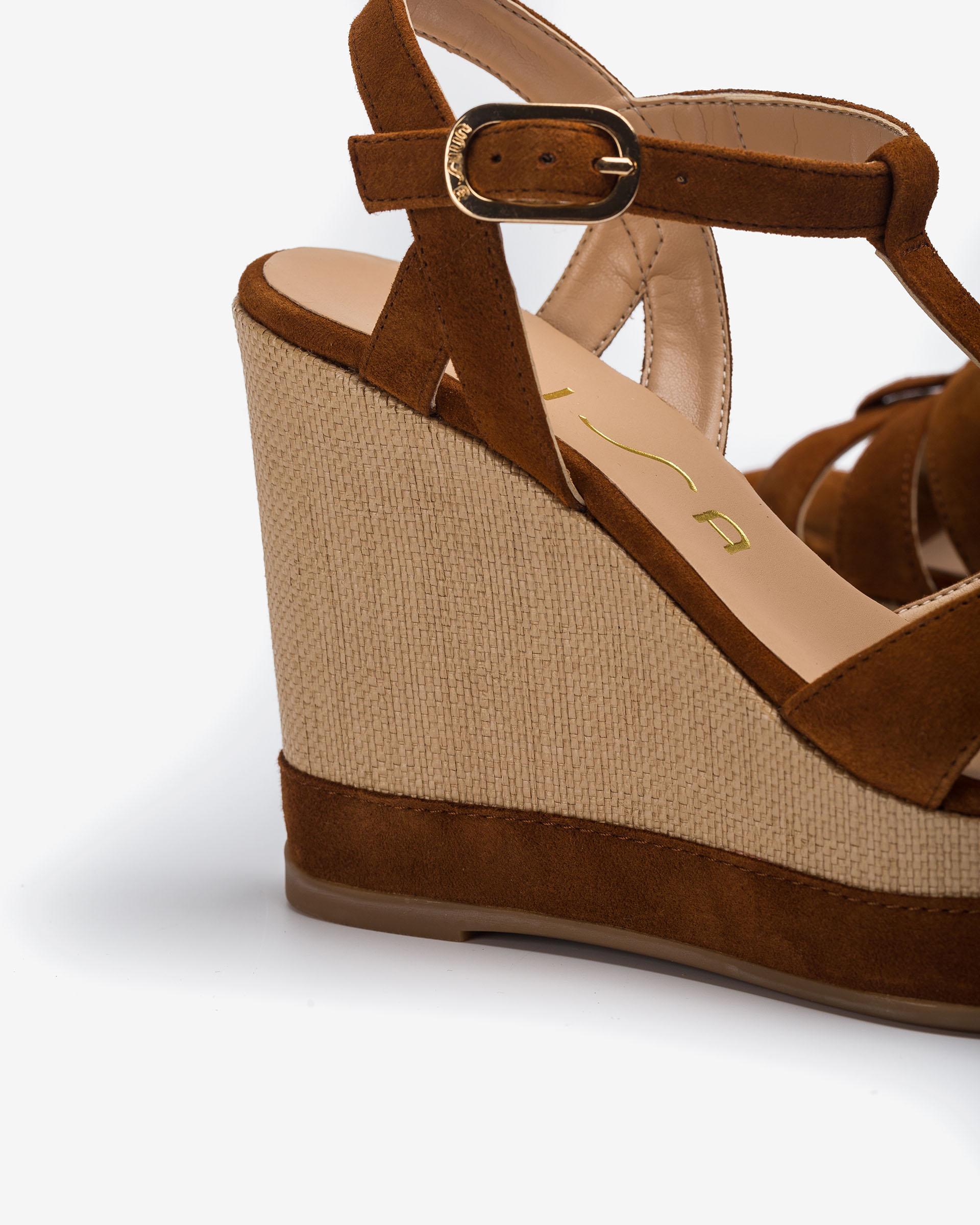 UNISA Kid suede T-strap sandals MANACOR_KS 2