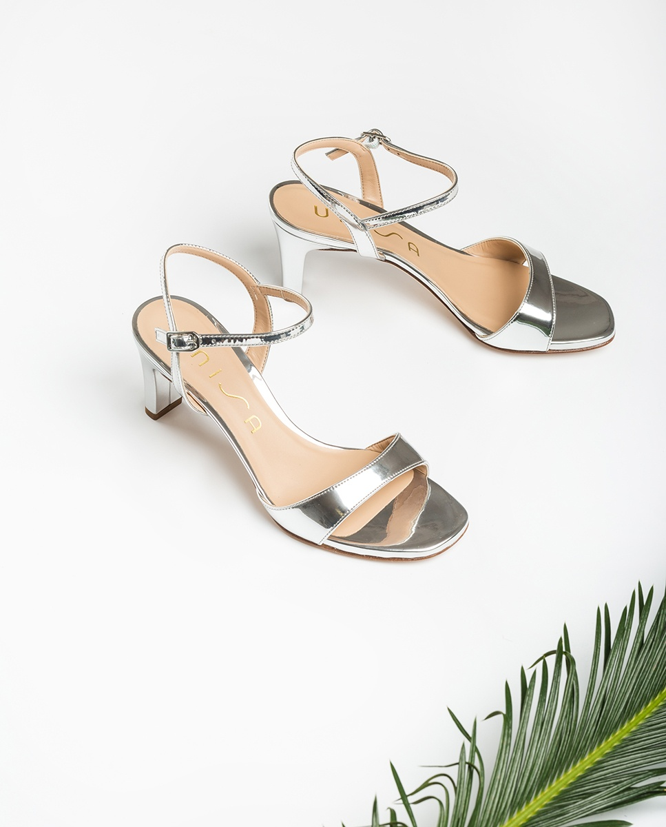 UNISA Silver sandals medium heel MECHI_SP silver 2