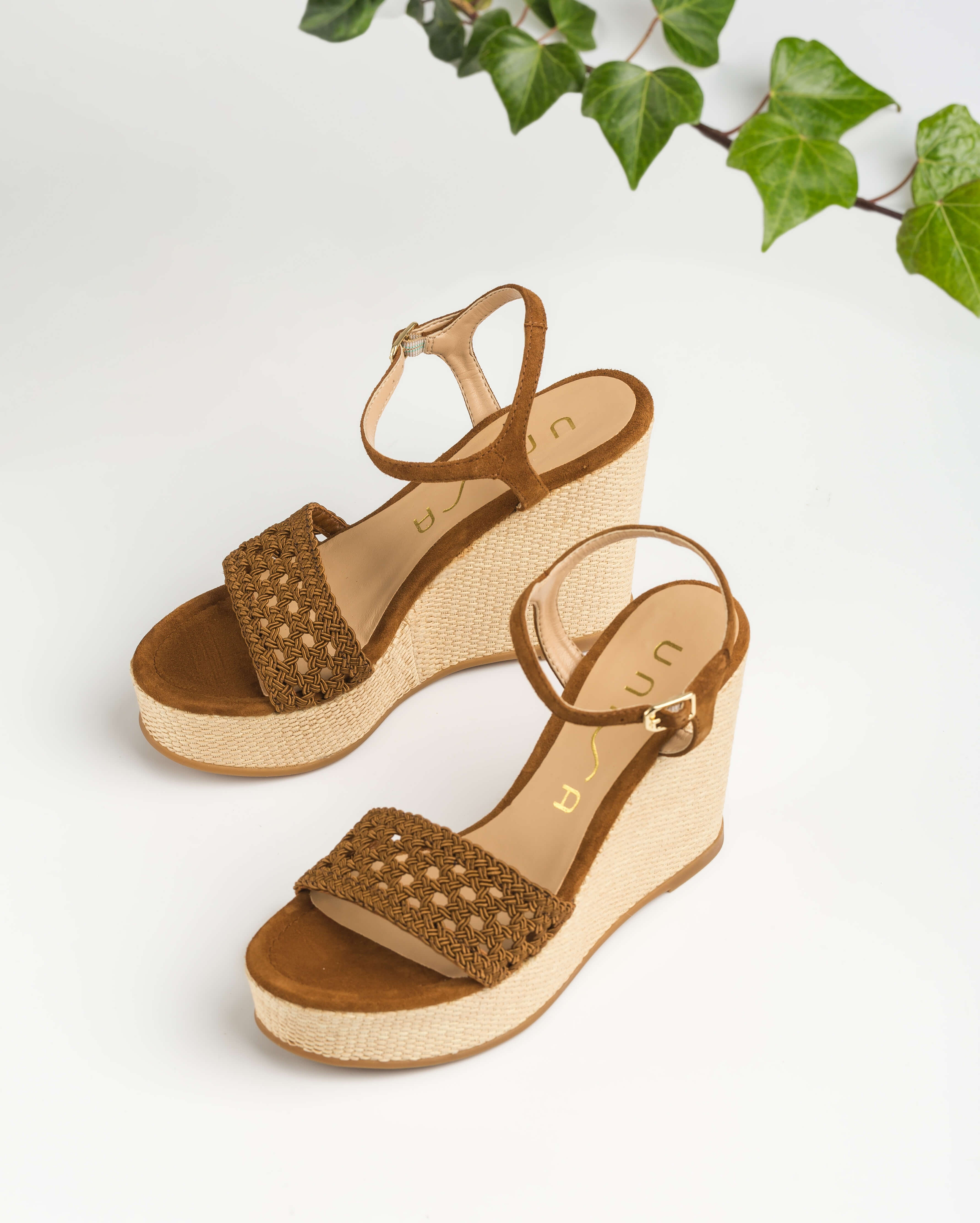 UNISA Wedge macramé sandals MISA_KS argan 2