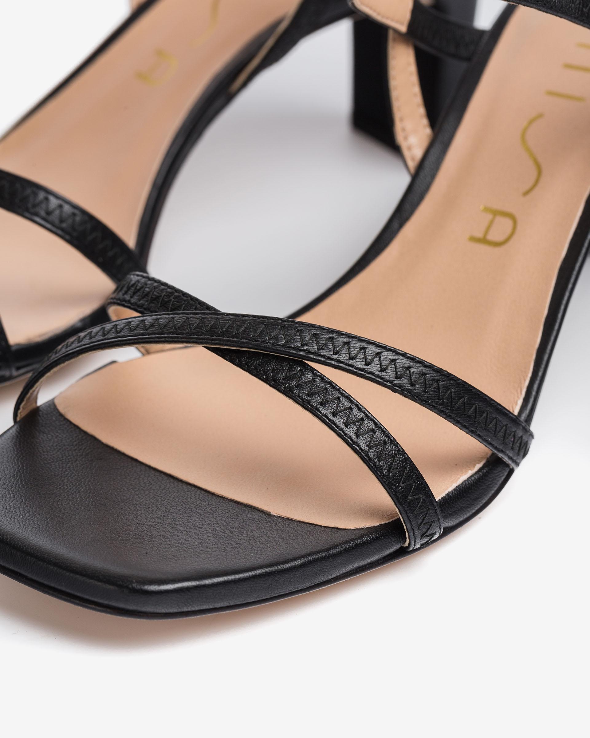 UNISA Medium heel leather sandals MONI_NS 2